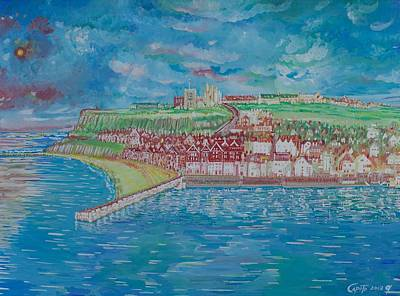 Painting - Whitby Bay - England by Giovanni Caputo