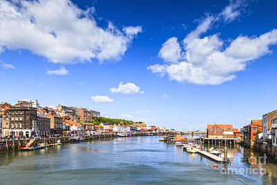 Whitby Harbour And River Esk North Yorkshire England Print by Colin and Linda McKie