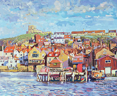 Port Town Painting - Whitby by Martin Decent