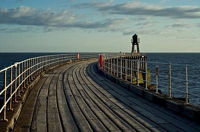 Photograph - Whitby Pier by Stephen Taylor