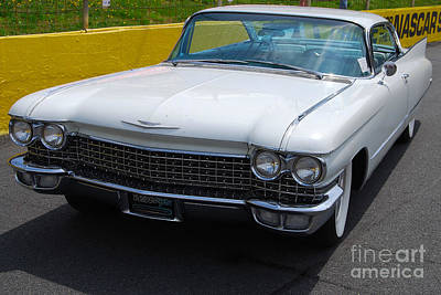 Photograph - White 1960 Caddy by Mark Spearman