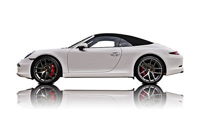 Cars Digital Art - White 911 by Douglas Pittman