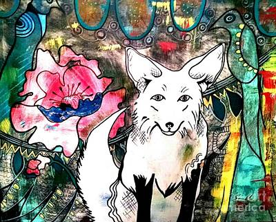 Painting - Gyspy White Fox by Amy Sorrell