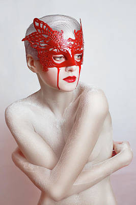 Flour Photograph - White And Blood by Angelina Goncharova