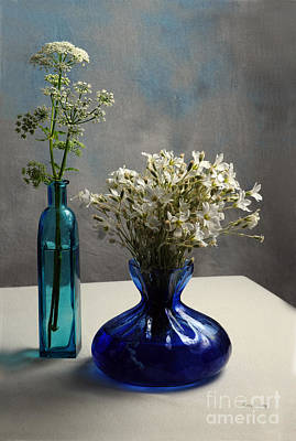 Cow Parsley Wall Art - Photograph - White And Blue Elegance by Randi Grace Nilsberg