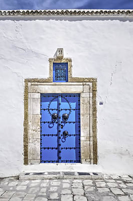 Sidi Bou Said Photograph - White And Blue by Maria Coulson