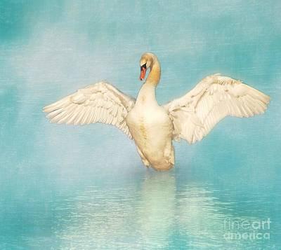 White Angel Art Print by Hannes Cmarits