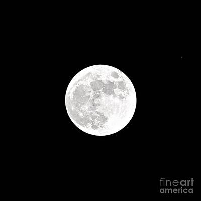 Photograph - White Balance Full Moon by Bridgette Gomes