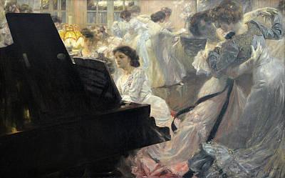 Marius Painting - White Ball by Joseph Marius Avy