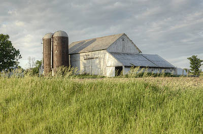 Photograph - White Barn by Ann Bridges