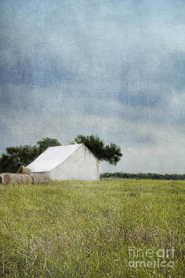 Photograph - White Barn by Elena Nosyreva