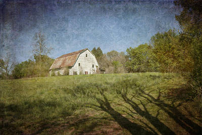 Photograph - White Barn II by Carol Erikson