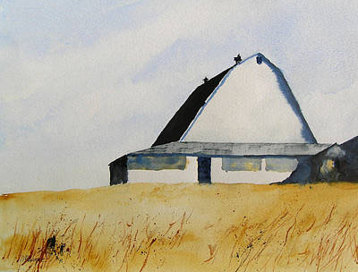 White Barn Print by William Beaupre