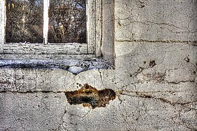 Photograph - White Barn Window Detail by Roger Passman