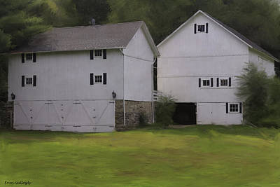 Photograph - White Barns by Fran Gallogly