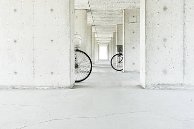 White Basket,black Basket Art Print