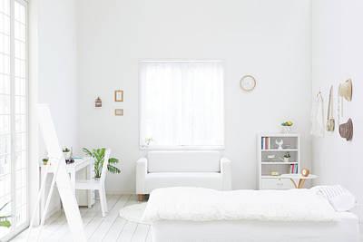 White Bedroom Art Print by Bloom Image
