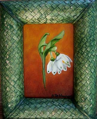 Painting - White Bells Sold by Susan Dehlinger