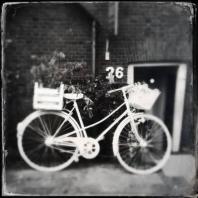 Photograph - White Bike by Greetje Kamps