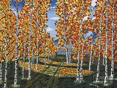 Painting - White Birch Reservoir  by Jeffrey Koss