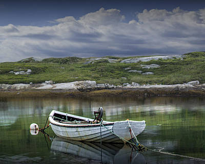 Photograph - White Boat Along The Shore by Randall Nyhof