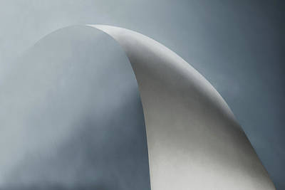 Haze Photograph - White Bow by Gilbert Claes