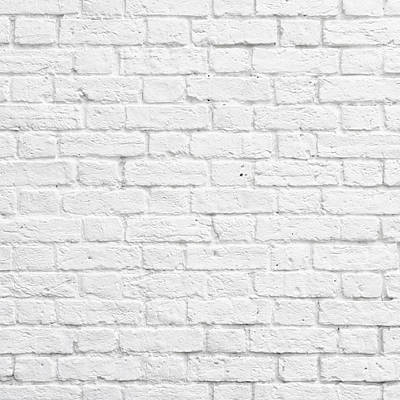 White Brick Wall Art Print
