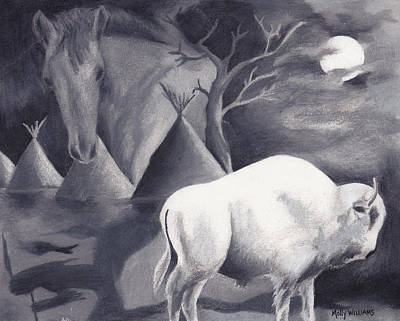 White Buffalo Art Print