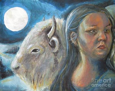 Painting - White Buffalo Portrait by Samantha Geernaert