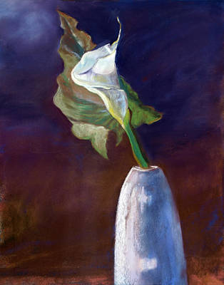 White Calle Lily Art Print by Julie Maas