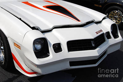 Photograph - white Camaro Z28 by Mark Spearman
