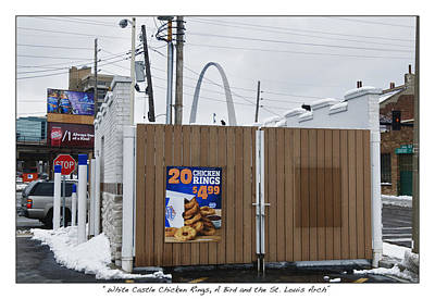 Sait Photograph - White Castle Chicken Rings A Bird And The St. Louis Arch by James Neiss
