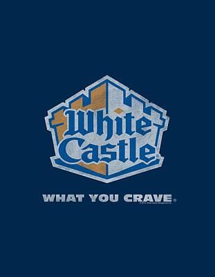 Slider Digital Art - White Castle - Distressed Logo by Brand A