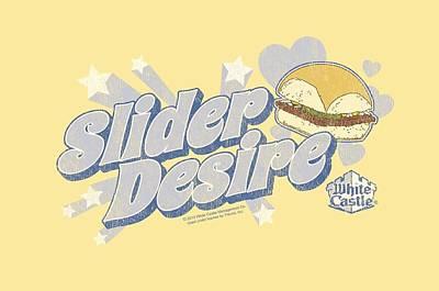 Slider Digital Art - White Castle - Slider Desire by Brand A