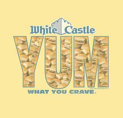 Slider Digital Art - White Castle - Yum by Brand A