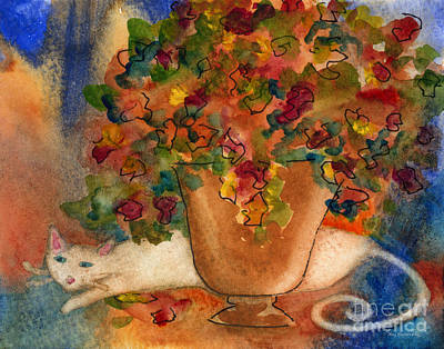 Painting - White Cat by Amy Kirkpatrick
