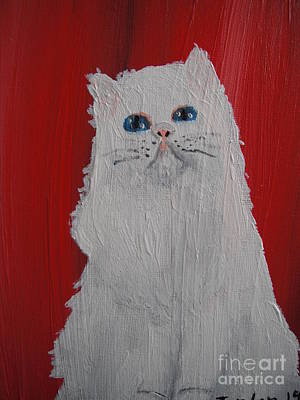 White Cat Original by  Jordan Allen