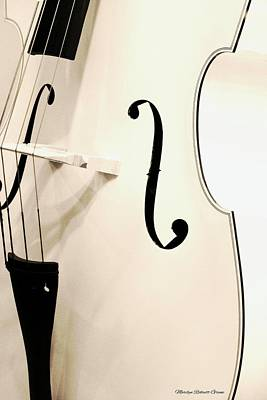 Cellos Photograph - White Cello by The Art Of Marilyn Ridoutt-Greene