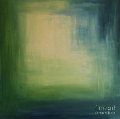 White Center - Abstract Painting Art Print