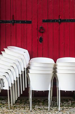White Chairs Art Print by Carlos Caetano