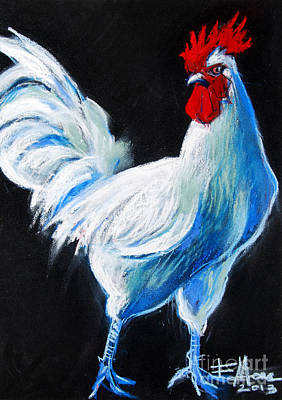 Painting - White Chicken by Mona Edulesco