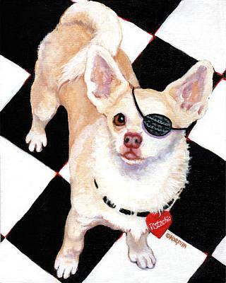 Painting - White Chihuahua - Pistachio by Rebecca Korpita