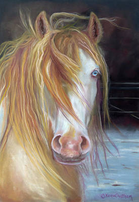 Painting - White Chocolate Stallion by Karen Kennedy Chatham
