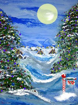 White Christmas At The North Pole Art Print by Lori  Lovetere