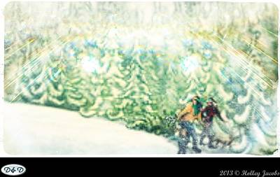 Digital Art - White Christmas by Holley Jacobs