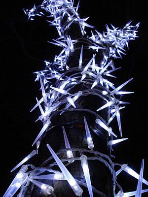 White Christmas Tree Art Print by Michel Mata