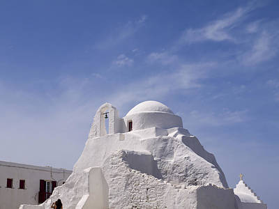 Photograph - White Church In Mykonos by Brenda Kean
