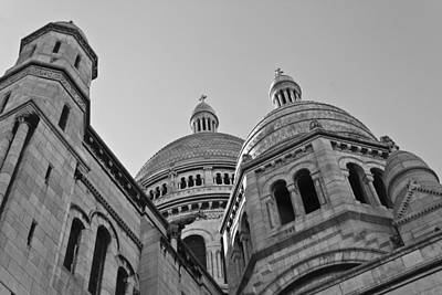 Sacre Coeur Photograph - White Church On The Hill by Chris Whittle