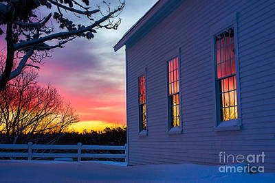 White Church Windows Art Print by Benjamin Williamson