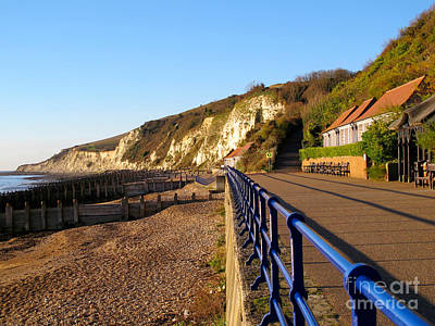 Photograph - White Cliffs Of Eastbourne Beachy Head With Promenade by Art Photography
